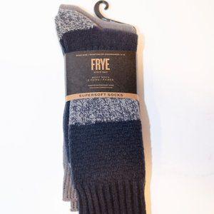 Frye 2 Pack Super Soft Boot Socks (Gray & Black)